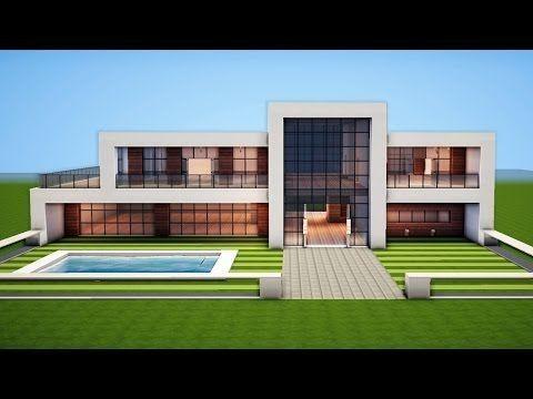 Minecraft einfaches modernes Haus-Design   Modern minecraft houses .