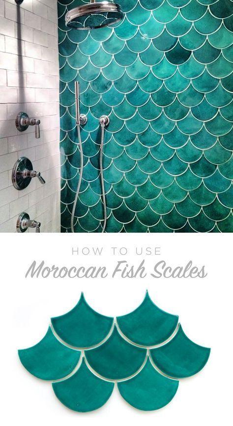 Diese marokkanischen Fischschuppen für Ihre Bad- oder Duschwand .