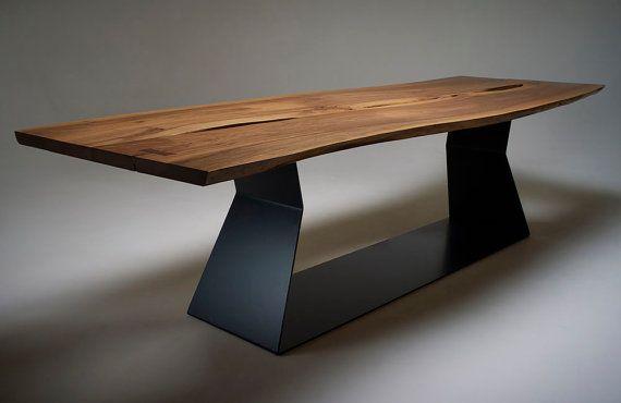 Stunning Live Edge Walnut Dining Table | Tisch, Tisch und stühle .