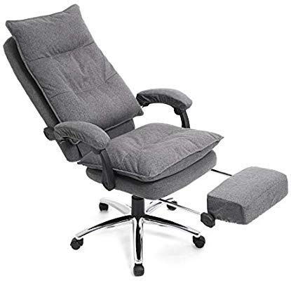 SONGMICS Chefsessel, ergonomischer Bürostuhl mit Fußstütze .