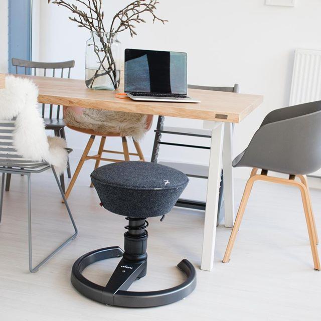 Ergonomischer Stuhl swopper mit Filzbezug   Ergonomische stühle .