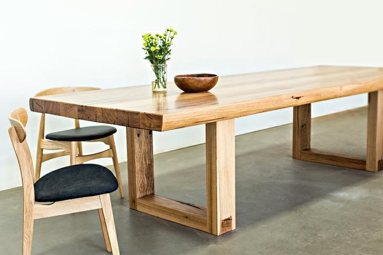 Moderne Esstische aus massivem Holz - 50 Ideen   Esstisch modern .