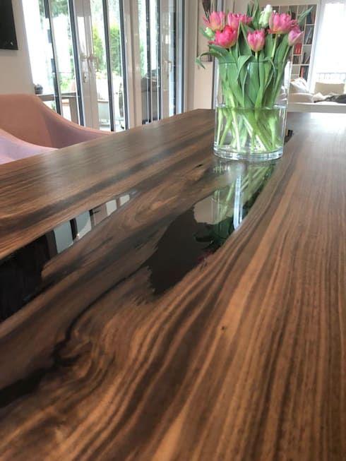 Einzigartiger Esstisch aus massivem Holz   Home decor, Home, Tab