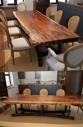 Dining table Suar - modern loft table to dining room | Großer .