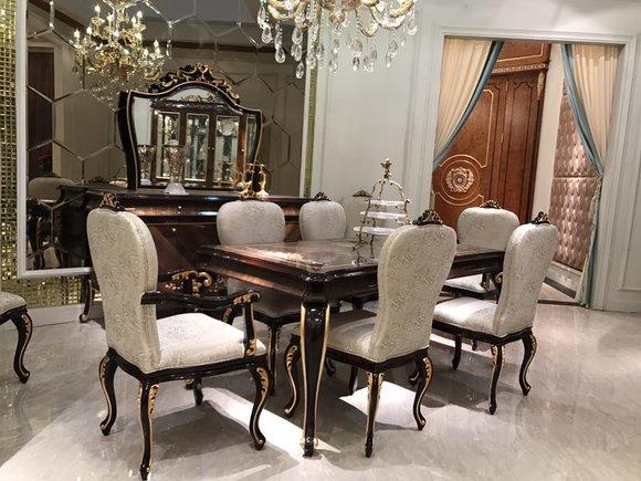 Esstisch 6 Stühle Stuhl Esszimmer Garnitur Barock Rokoko Tische .