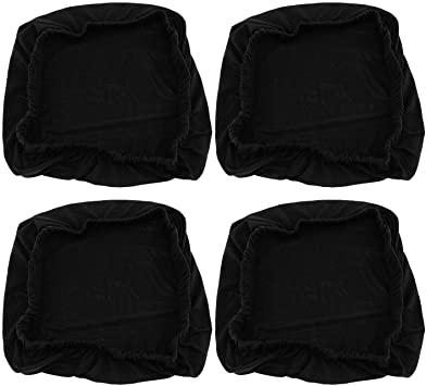 4x schwarz dehnbar elastische Schonbezüge Abdeckung Esszimmer .