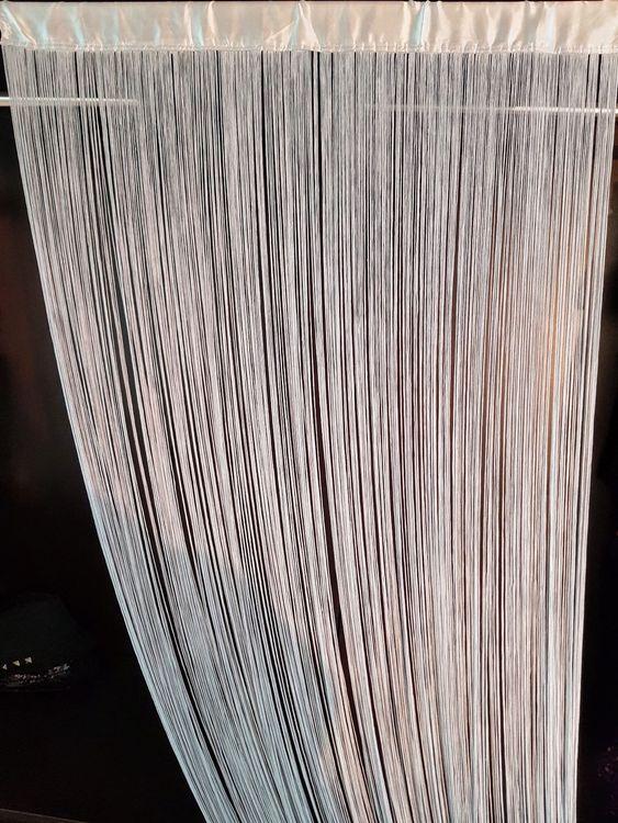 5 Stück, Qualitäts Fadenvorhänge, grau. kaufen auf Ricar