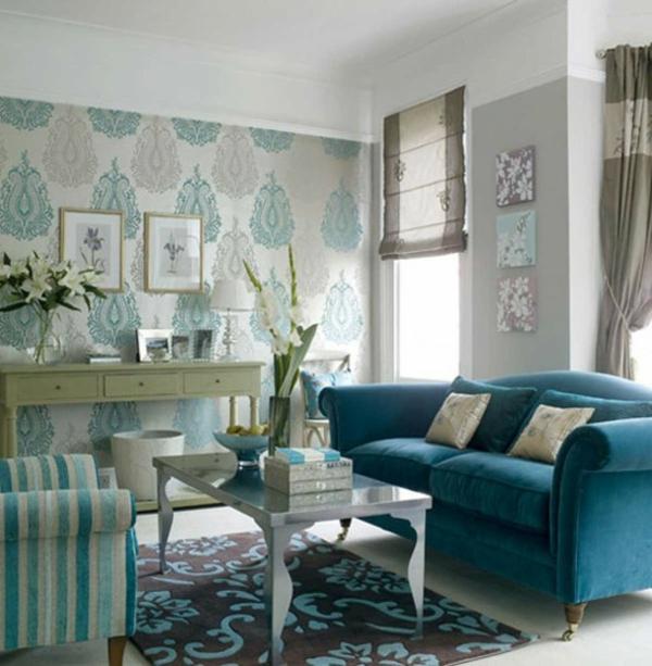 Die perfekte Wohnzimmer-Tapete - wie Sie die richtige Farbe aussuch