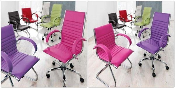 Farbige Bürostühle