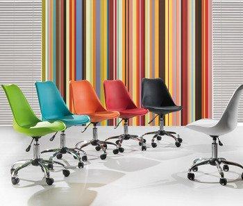 design-Bürostuhl mit Rollen, farbig KRIAKAO, Weiß: Amazon.de .
