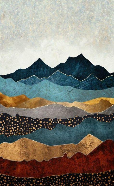 Amber Dusk Fenstervorhänge - Patroon illustratie, Illustratie .