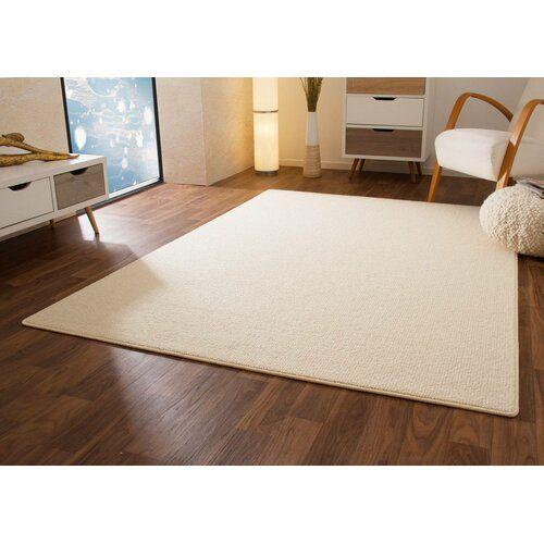 Teppich Valladares aus Wolle in Creme 17 Stories Teppichgröße .