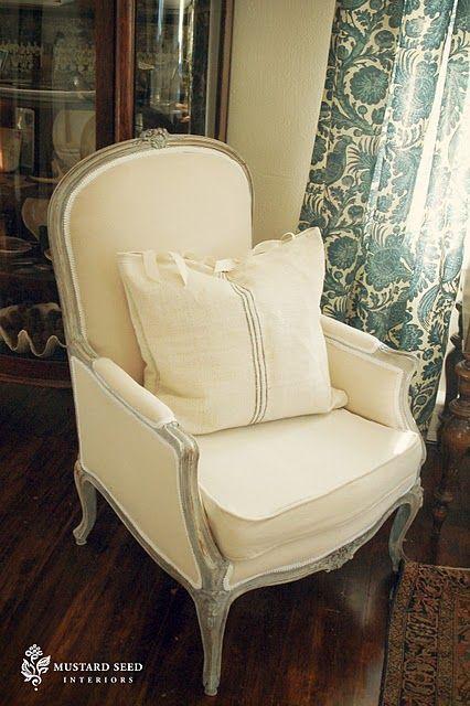 great French chair #Miss Mustard Seed | Französische stühle, Stuhl .