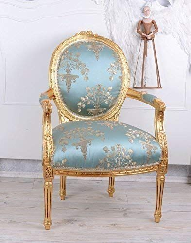 französischer Barocksessel Armlehnstuhl Retro Sessel Barock, ein .