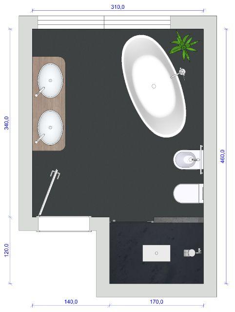 Bad mit freistehender Badewanne - gut geplant   Freistehende .