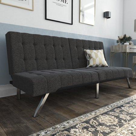 DHP Emily Convertible Tufted Futon Sofa, Gray Linen - Walmart.com .