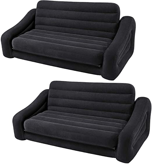 Amazon.com: Intex Inflatable Queen Size Pull Out Futon Sofa Couch .