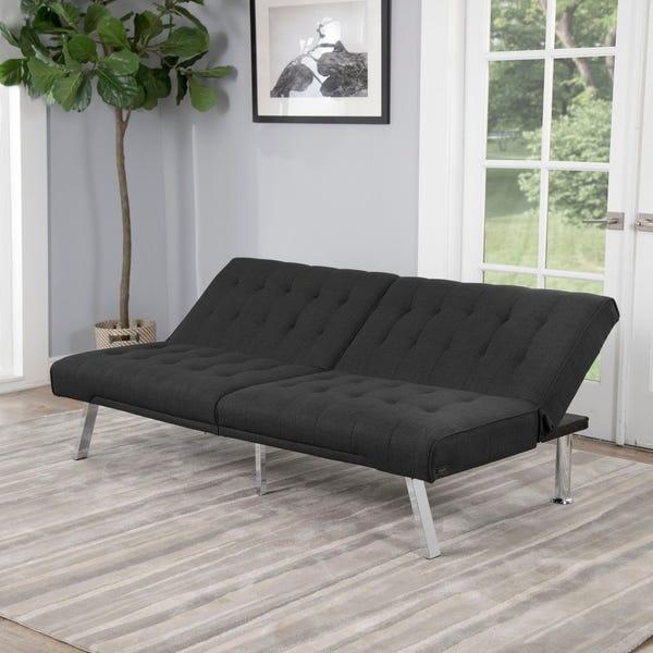 Shop Abbyson Clayton Grey Fabric Futon Sofa Bed - On Sale .