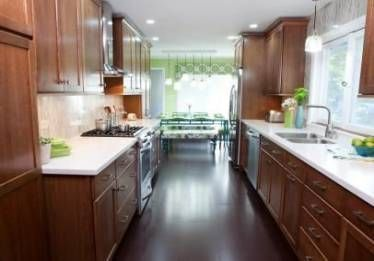 Condo Galeere Küche umgestalten dunkles Holz 65+ Ideen .