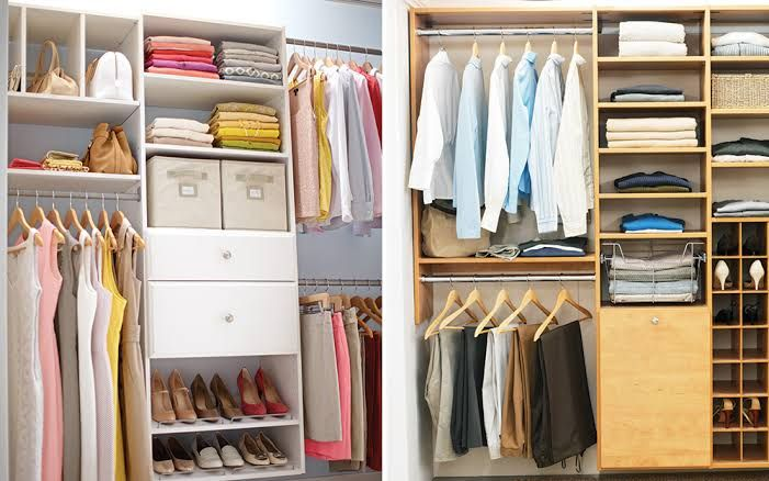 Garderobenlagerung Ideen