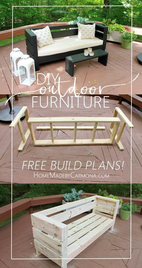 Baupläne für Gartenmöbel | Diy terrasse, Outdoor dekorationen und .