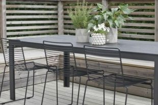 Essecke im Freien Garten gestalten Gartenmöbel schlichtes Design .