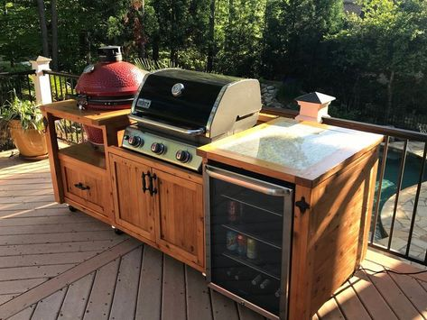 Grillküche im Freien, Grillschrank, Grilltisch und andere .
