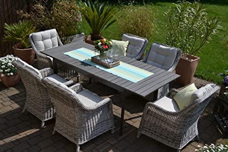 Amazon.de: bomey Rattan Lounge Set I Gartenmöbel Set Como 6-Teilig .