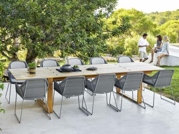 Cane-Line Breeze Gartenmöbel Set 11-tlg. mit Endless Esstisch .