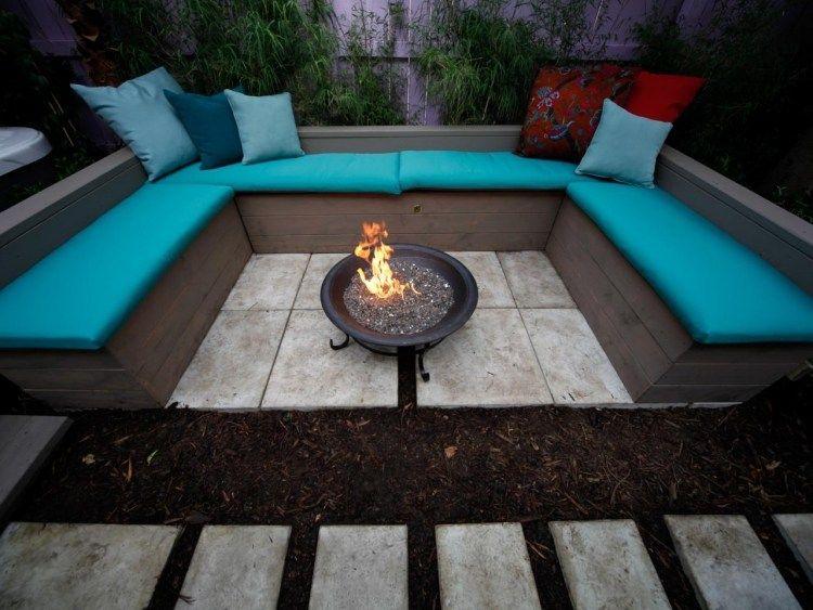 Foyer extérieur dans le jardin: 50 idées remarquables pour vous .
