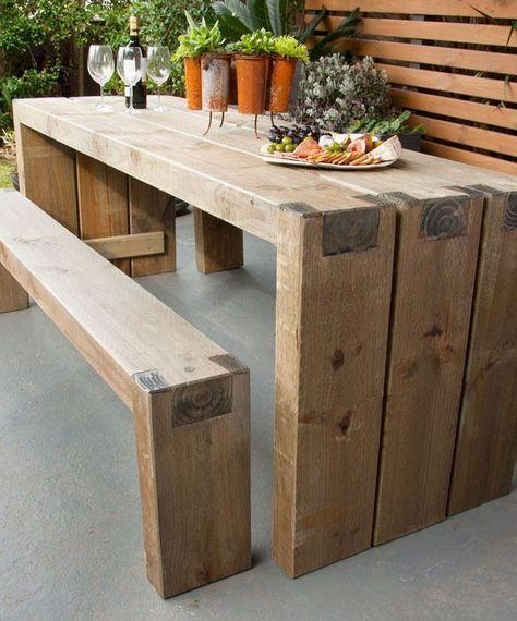 Beste Gartentische | Wooden garden furniture, Diy outdoor table .