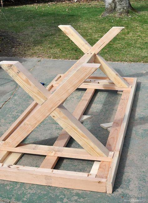 Garden table wood build yourself The best 25+ garden table sel .