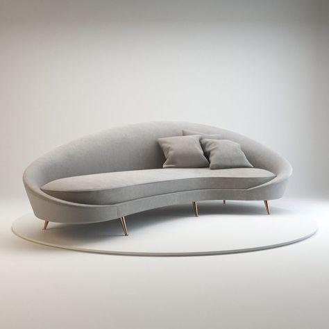 Gebogenes Sofa