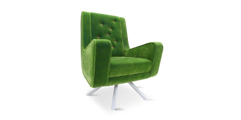 Sessel Grün Plaid Stuhl Grün Gemusterte Sessel Samt Sessel Samt .