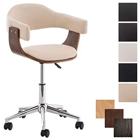 CLP Design-Bürostuhl BRÜGGE mit Sitzpolsterung und Kunstlederbezug .