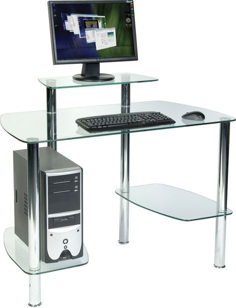 Glas computer Schreibtisch mit Regal echte Holz home office Möbel .