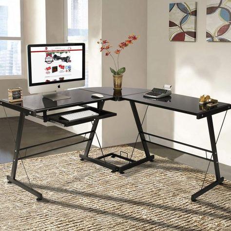 Blaue Glas computer Schreibtisch, Büro Möbel für zu Hause Eine der .