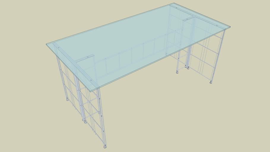 Schreibtisch Glas   3D Warehou
