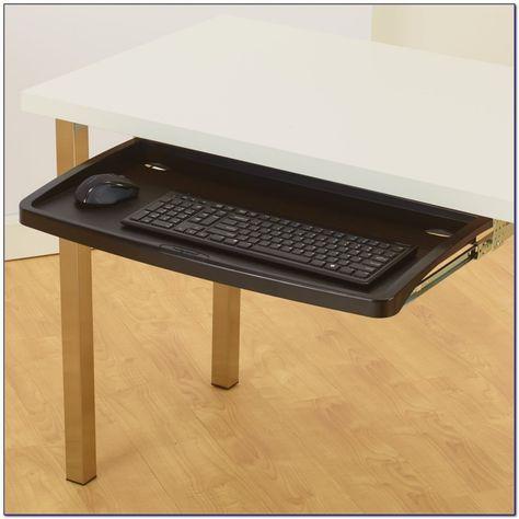 Glas Schreibtisch mit Tastaturablage home office Möbel sets .