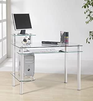 computertisch glas: Glas Schreibtisch Computertisch PC Büro Tisch .