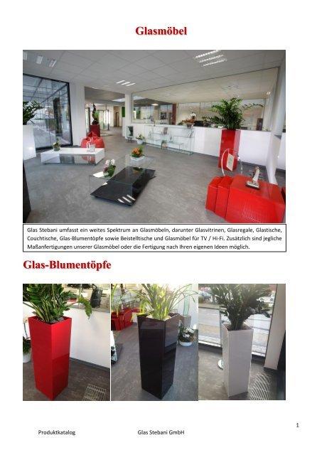Glasmöbel Glas-Blumentöp