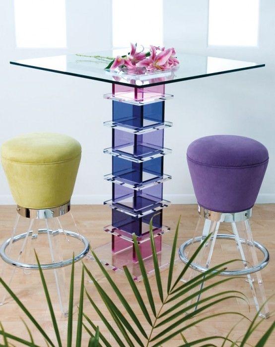 Schöne Glastische von H.studio | Deko Ideen | Glass bar table, Bar .
