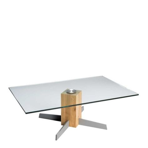Pharao24 Glastisch »Edicenza«, aus Massivholz | Glastische, Tisch .