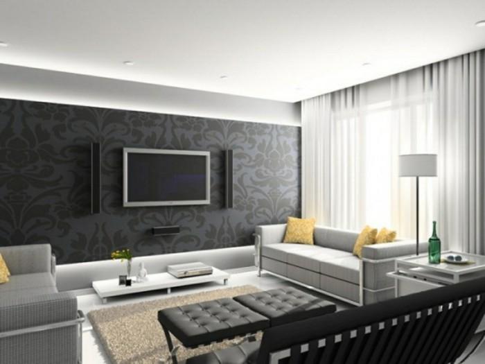 Wohnzimmer Grau - In 55 Beispielen erfahren, wie das ge