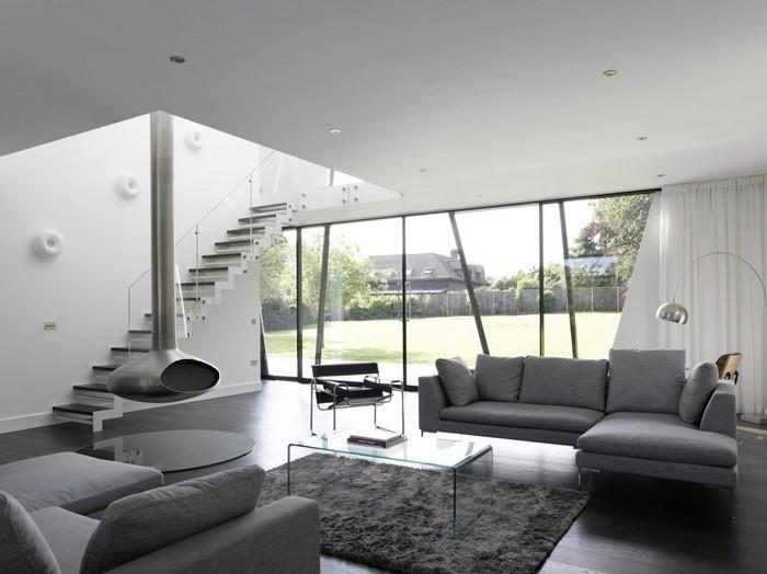 Wohnzimmer grau einrichten und dekorier