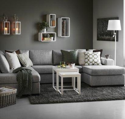 Graues Wohnzimmer | Wohnzimmer grau, Wohnzimmer einrichten .