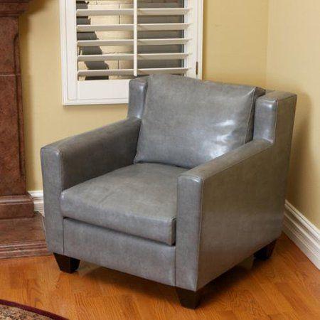 Grey Leather Club Chair | Graues leder, Sessel und Stüh