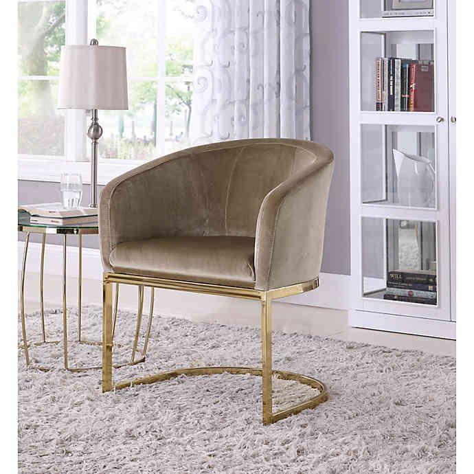 Chic Home Velvet Upholstered Lippi Chair | Bed Bath & Beyond .