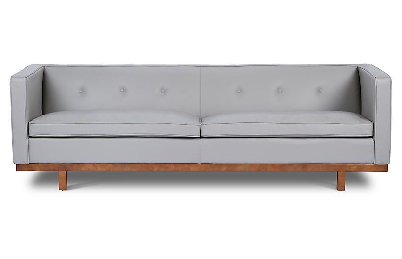 Von Sofa, Gray Leather | Möbel | Sofa und Graues so