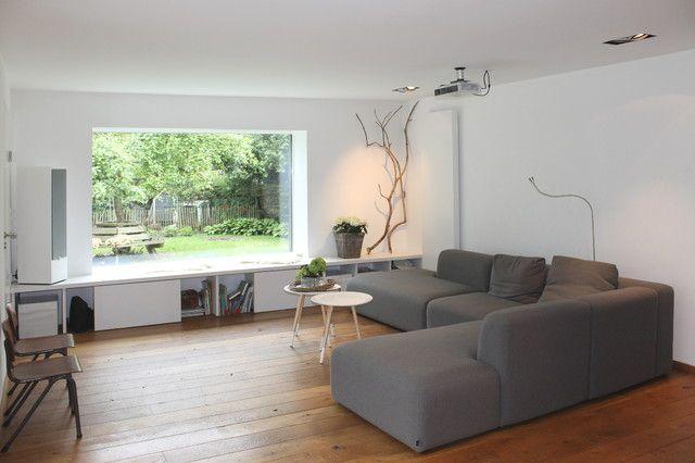 graues Schnittsofa   Deko wohnzimmer modern, Wohnzimmer modern und .